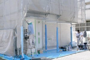 雨漏り修理兼外壁塗装